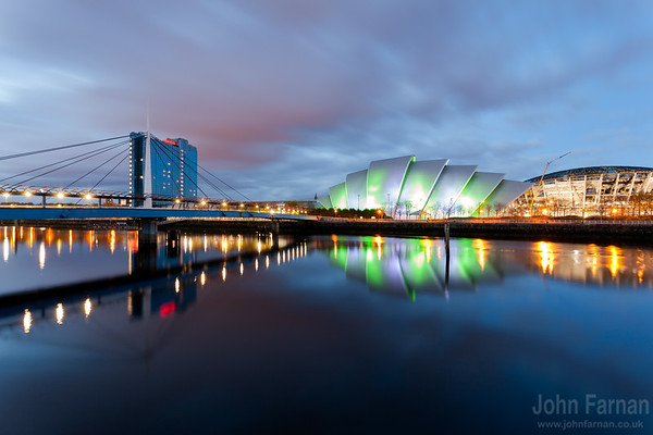 Bells Bridge the SECC and the under construction HYDRO