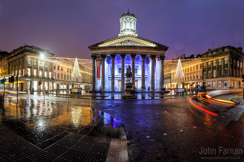GOMA or the Glasgow Museum of Art  Royal Exchange Square Glasgow  A Stunning Glasgow Print  Also available as a fine art canvas or wonderfully evocative acrylic print. Glasgow has never looked better  All images are printed just outside Glasgow and delivered anywhere in the world