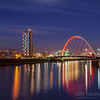 The Clyde Arc under a moonlit sky