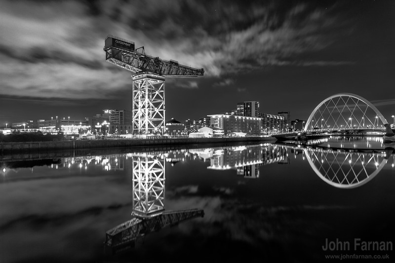 The Titan at Finnieston. Lit up during the summer of 2014