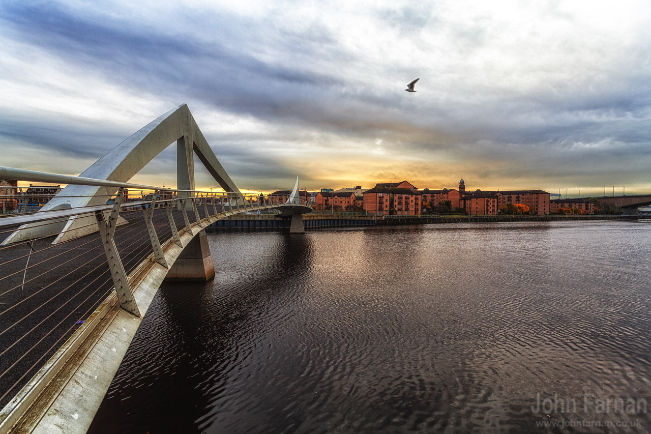 Or officially known as the Tradeston Bridge but thats not so nice. A Stunning Glasgow Print  Also available as a fine art canvas or wonderfully evocative acrylic print. Glasgow has never looked better  All images are printed just outside Glasgow and delivered anywhere in the world