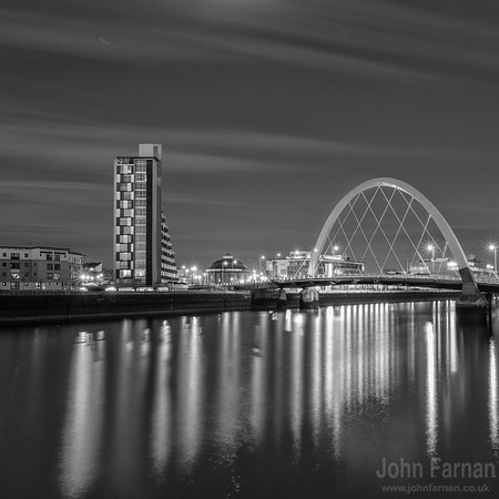 The Clyde Arc under a moonlit sky