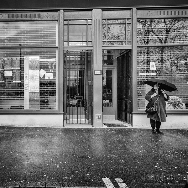 Woman with brolly