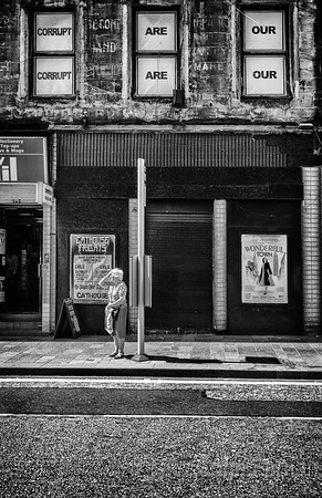 Images taken on the streets of Glasgow and surrounding areas. It never a dull day when part of the Glasgow street photographer fraternity.