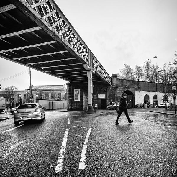 Guy crossing road