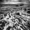 Rushing waves, west coast of Scotland