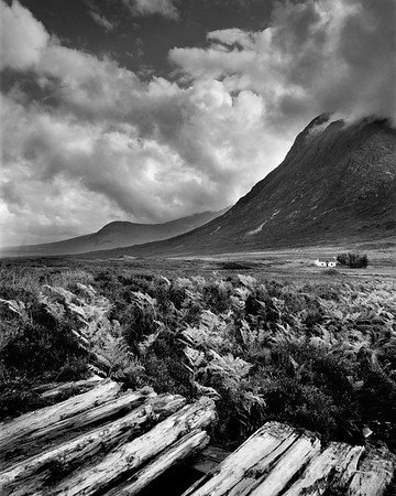 Glencoe Classic view of Cottage and Buachaille Etive Mor