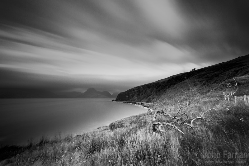 Elgol and the Cuillin monochrome