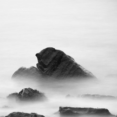Minimalist rocks in the sea at Elgol