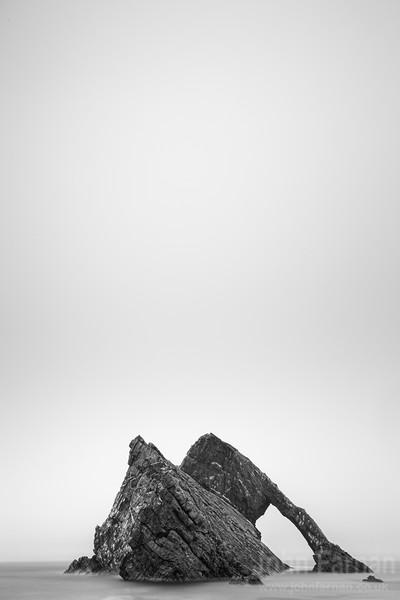 Bow Fiddle Rock. black and white portrait