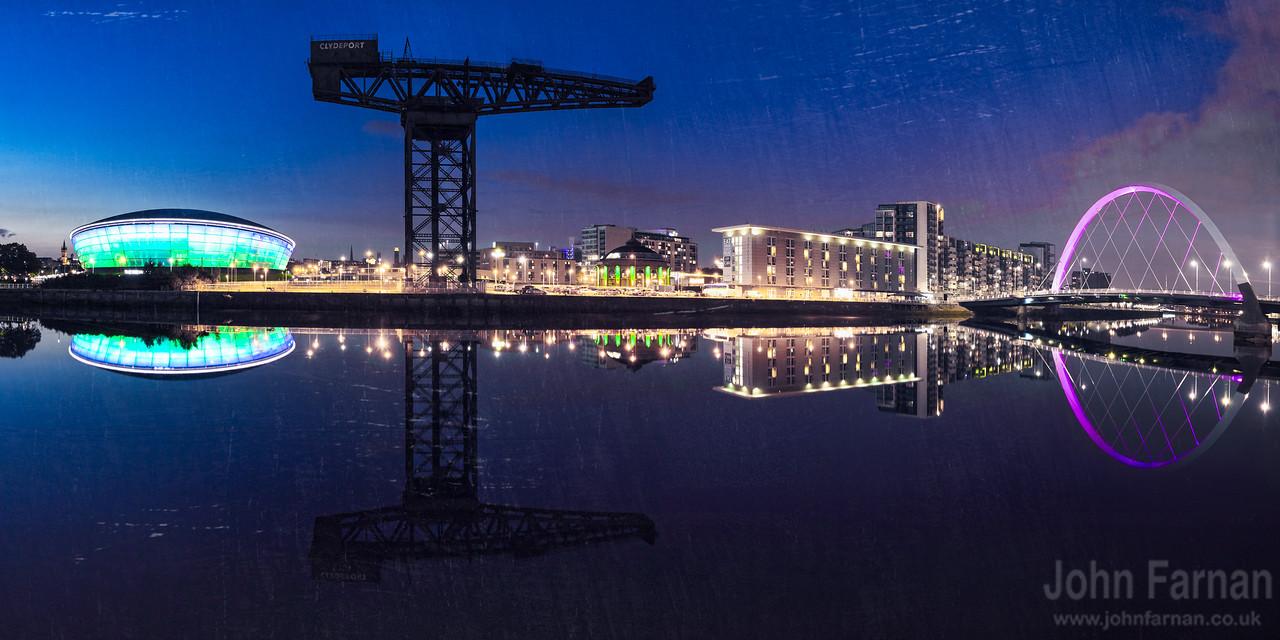 Glasgow riverside panorama