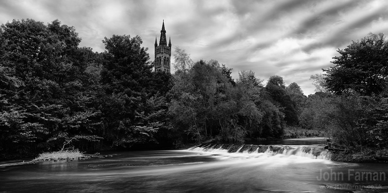 Glasgow Uni Tower from the River Kelvin
