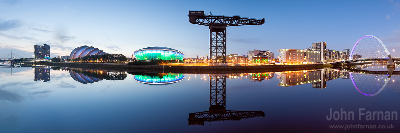 Glasgow skyline panorama