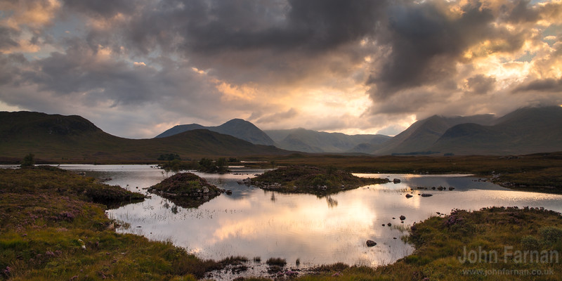 Loch Nah Achlaise Sunset