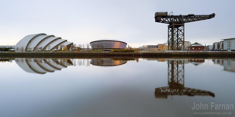 Glasgow Clydeside panorama daytime