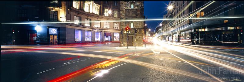 Glasgow cross at night