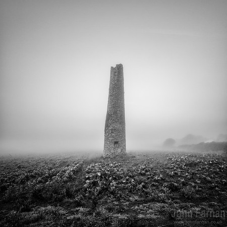 Cornish Chimney stack in the mist