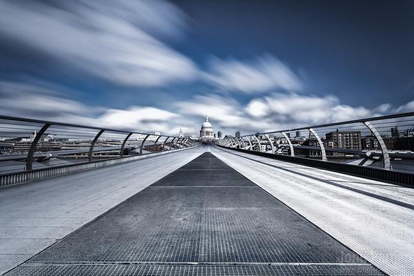 The Millennium Bridge looking towards St Pauls