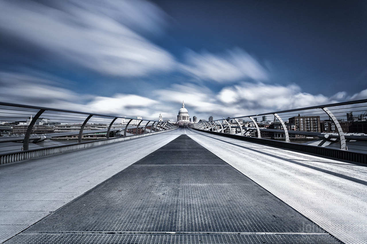 The Millennium Bridge looking towards St Pauls