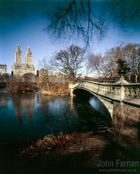 Bow Bridge and central park
