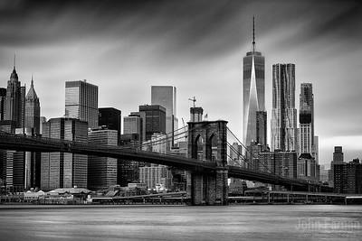 Brooklyn Bridge and trade centre