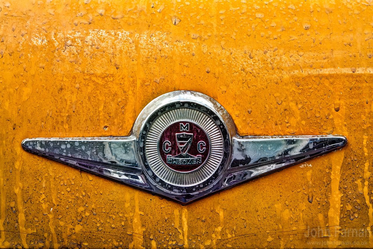 Vintage yellow cab detail