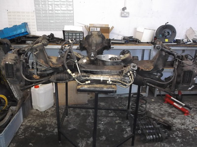 Front Subframe removed