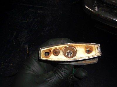 Rusted out indicator bulb holder