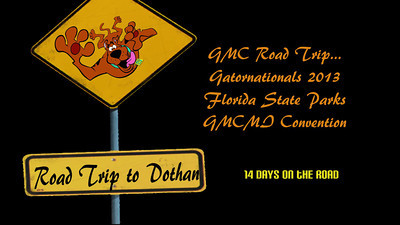 GMC motorhome trip to Dothan, Alabama
