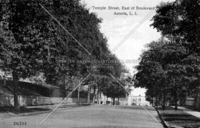 Temple Street, east view of 30th Road from Vernon Boulevard.