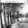 One of the earliest pictures of Shore Road in Astoria Park. A series of mansions lined the hill to the right.