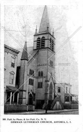 The first Trinity Lutheran Church 37th Street and 31st Avenue Astoria.