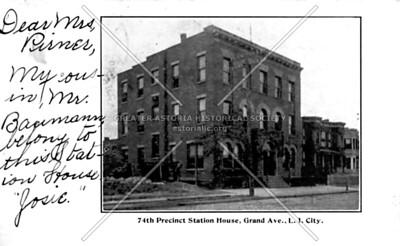 Old 114th Precinct, now HANAC building at 30th Avenue near Crescent Street.