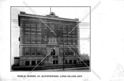 PS 83 was in Ravenswood on Vernon Boulevad between 34th (formerly Frankin Avenue) and 35th Avenues (formerly Pierce Avenue)