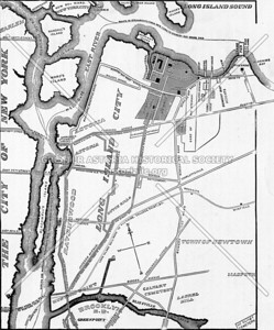 This map of Long Island City (highlighting the Steinway Property) shows the community comprised of Astoria, Ravenswood and Blissville (an early name of Sunnyside)