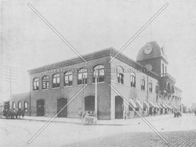 Long Island Railroad terminal on Borden Avenue at Hunters Point c. 1891