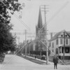 Old Astoria Village: First Presbyterian Church in the background (photo taken at 27th Avenue and 4th Street)