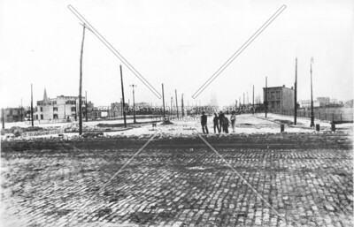 Queens Plaza looking east on March 3, 1909, less than one month before the opening of the Queensboro Bridge.