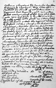 Grant issued by Governor Peter Stuyvesant to William Hallet in 1652