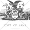 Long Island City coat of arms; image of Neptune (left) and Minerva (right)