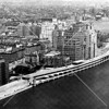 Aerial view of the FDR Drive from 80th Street to beyond Gracie Point.