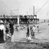 North Beach swimming scene (was it really the cameraman that caught the curious eye of the lads in the foreground?)  LaGuardia Airport is situated on this site.  The pier in the background was completely burned in 1925.