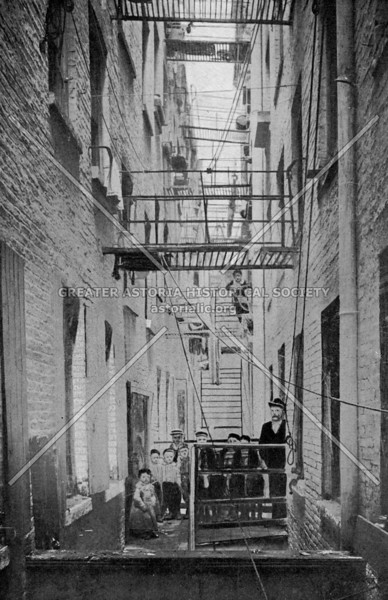 Tenement courtyard in the Lower East Side