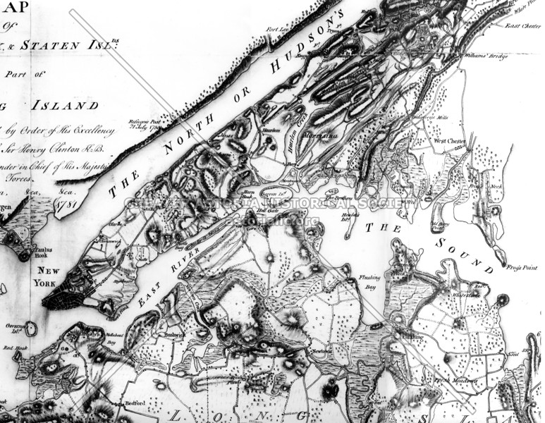 British map on New York (1783)