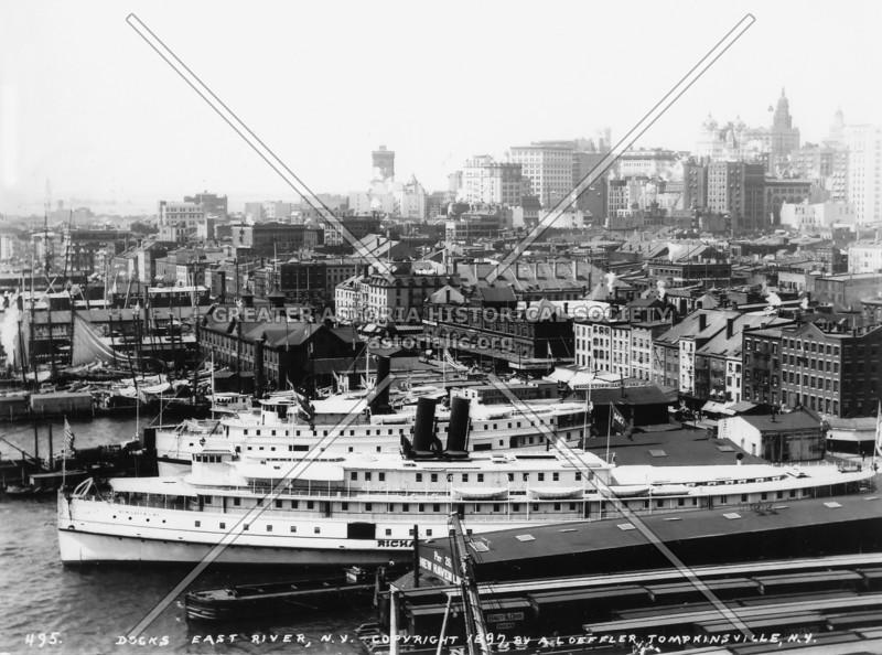 1897 photograph of Lower Manhattan capturing the dynamic spirit of American enterprise