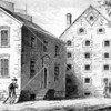 Depiction of a sugar warehouse on Liberty Street, used also as a prison during the Revolutionary War.  It stood until the 1890s.