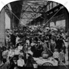 Marketplace in Brooklyn under unspecified East River bridge during the early years of the 20th century