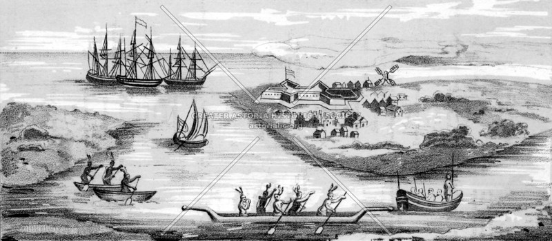 One of the earliest views of New Amsterdam (c. 1626)