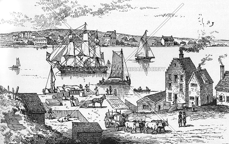 East River Ferry to Brooklyn (c 1700s)