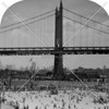 One of the Triborough Bridge's towers looming over Astoria Pool c. 1940